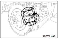 Нажмите на изображение для увеличения Название: Проверка состояния задних тормозных колодок Mitsubishi Ec.png Просмотров: 0 Размер:28.4 Кб ID:43340